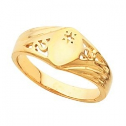 14K Gold Ladies Marquise Signet Mounting Ring