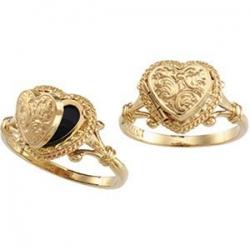 14k yellow gold locket ring 443pg64698