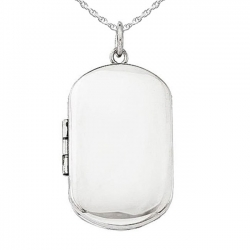 Sterling Silver Dog Tag Locket