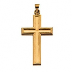14K Yellow Large Gold Cross Pendant