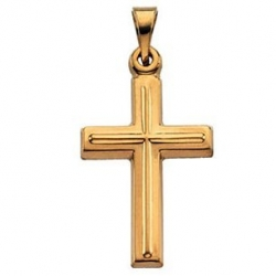 14K Yellow Gold Or White Gold Cross Pendant