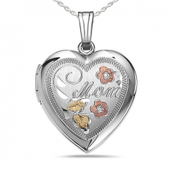 Sterling Silver HEART Mom Locket