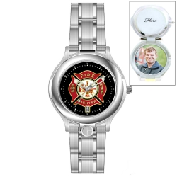 HourPower Firefighter s Watch  Silver Stainless  for Men