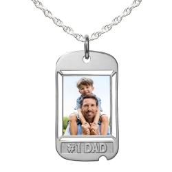 Dog Tag w    1 DAD etched