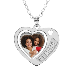 Heart W    1 MOM Etched