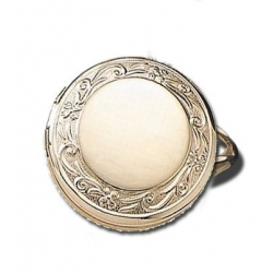 14k Yellow Gold Round Locket Ring