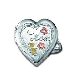 Sterling Silver Heart MomLocket Ring