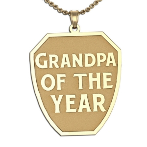 Grandpa of the Year and #1 Grandpa Charms