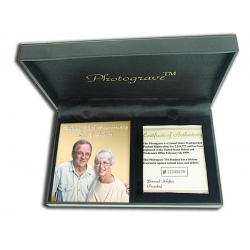 Solid 14K Yellow GoldPortrait Plaque