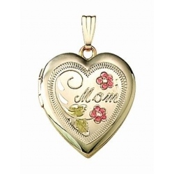 14K Gold Filled  MOM  Heart Locket