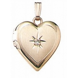 Solid 14K Yellow Gold Children s Heart Locket