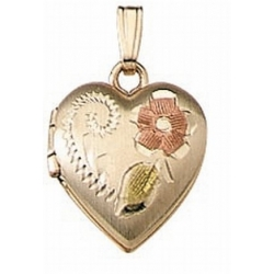 Solid 14K Yellow Gold Small Heart Locket