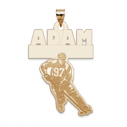 Custom Team Hockey Charm or Pendant