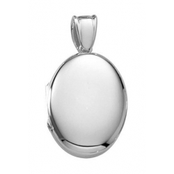 Platinum Oval Premium Weight Locket