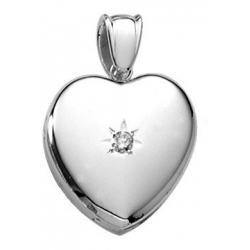 Platinum Heart Premium Weight   Genuine Diamond Locket