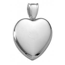 Platinum Heart Premium Weight Locket