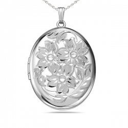 Extra LARGE Sterling Silver Oval Locket