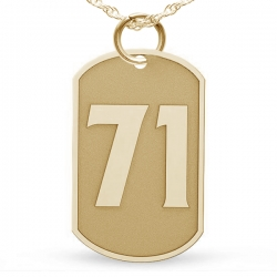 Dog Tag Number Pendant or Charm