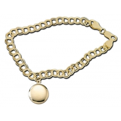 14K Yellow Gold Round Locket Bracelet