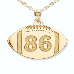 Custom Football Pendant w   Number