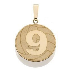 Custom Volleyball Pendant w  Number