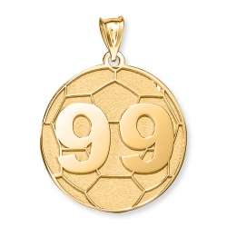 Custom Soccer Charm or Pendant w  Number