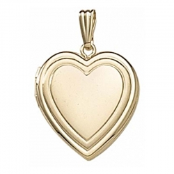 Solid 14K Yellow Gold  Sweetheart  Locket