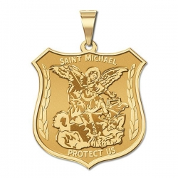 14K EXCLUSIVE Saint Michael Medal