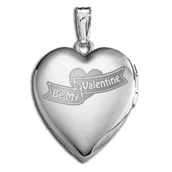 14k White Gold  Sweetheart Be My Valentine  Locket