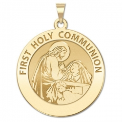 First Holy Communion Medal  for a Girl   EXCLUSIVE