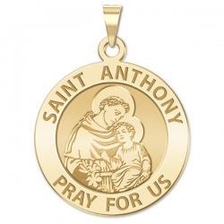 14K Yellow Gold  EXCLUSIVE  Saint Anthony Medal