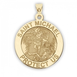 14K Yellow Gold  EXCLUSIVE  Saint Michael Medal