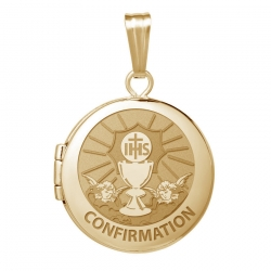 14k Yellow Gold Round  Confirmation  Chalice Locket