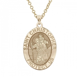 Saint Christopher OVAL Medal   EXCLUSIVE