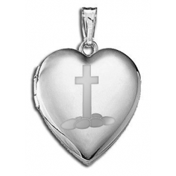 Sterling Silver Children s  Easter Eggs   Cross  Heart Locket