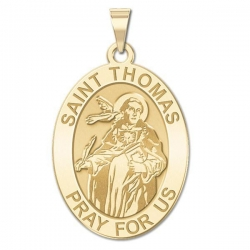 Saint Thomas Aquinas   Oval Medal  EXCLUSIVE