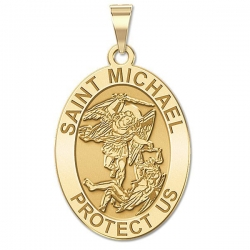 Saint Michael OVAL Medal   EXCLUSIVE