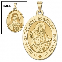 Scapular Medal  OVAL  EXCLUSIVE