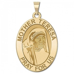 Mother Theresa   Oval Medal  EXCLUSIVE