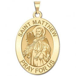 Saint Matthew OVAL Medal   EXCLUSIVE