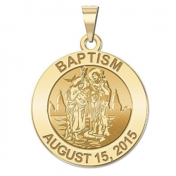 Personalized Baptism Medal  EXCLUSIVE