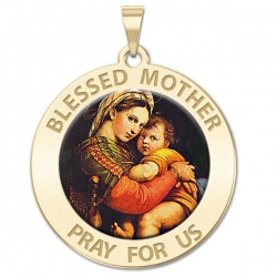Blessed Mother  Virgin Mary Medal   Color EXCLUSIVE