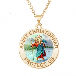 Saint Christopher Medal    Color EXCLUSIVE