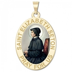 Saint Elizabeth Seton OVAL Medal   EXCLUSIVE