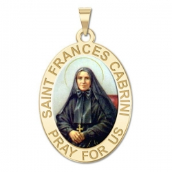 Saint Frances Cabrini Medal   Color EXCLUSIVE