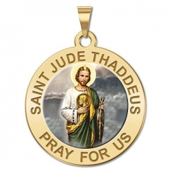 Saint Jude Medal   Color EXCLUSIVE