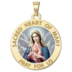 Sacred Heart Or Immaculate Heart of Mary Medal  Color EXCLUSIVE