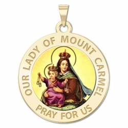 Our Lady of Mount Carmel Medal   Color EXCLUSIVE