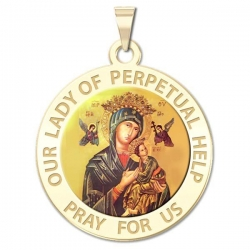Our Lady of Perpetual Help Medal Color  EXCLUSIVE