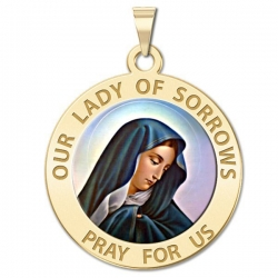 Our Lady of Sorrows Medal  Color EXCLUSIVE